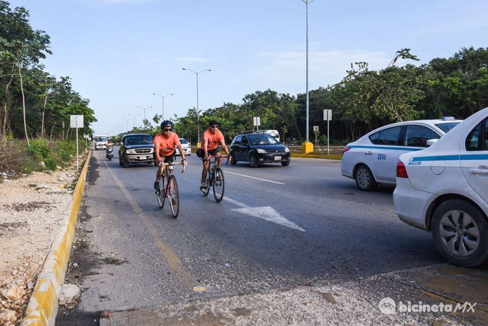 Bicineta Ciclistas Ciudad Desafío Modal, Playa del Carmen.